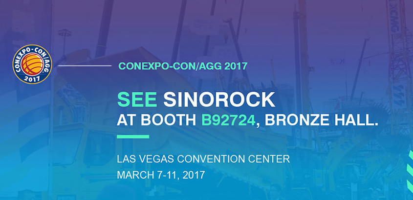 Sinorock® Will Attend CONEXPO-CON/AGG 2017